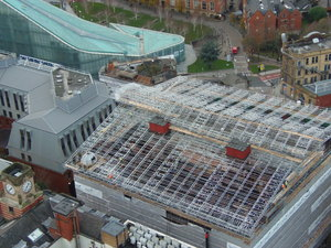 Extensive scaffolding provided for 3 year heritage project in Manchester.