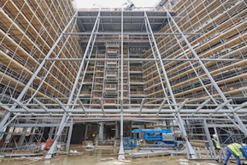 Scaffolding for Wates Construction project in Leeds