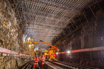 Specialist scaffolding required for Central Tunnel, Liverpool by Crossway