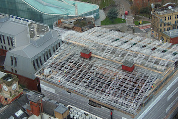 Scaffolding provided for refurbishment of heritage project in Manchester