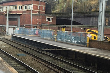 Scaffolding for Liverpool Lime Street railway station by Crossway Scaffolding