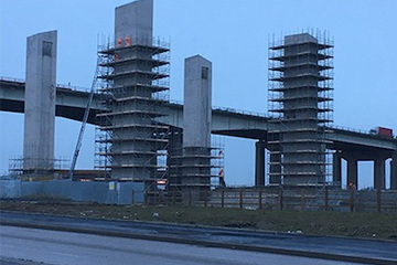 Scaffolding for Western Gateway road bridge by Crossway Scaffolding